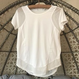 Zella short sleeves work out top - White